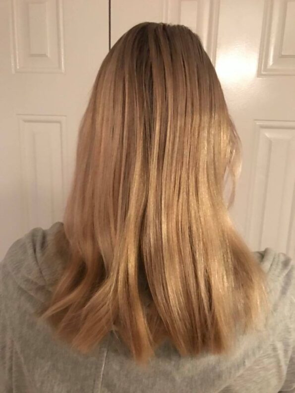 my hair before from behind
