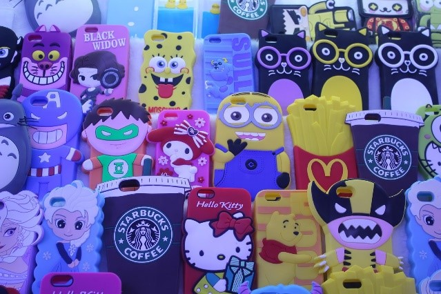 a selection of plastic mobile phone cases