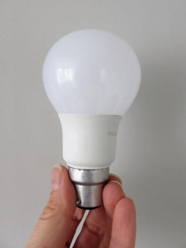 the Phillips LED bulb in my hand