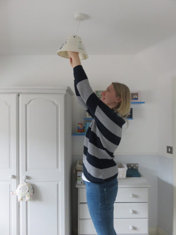 me popping the light bulb into William's room