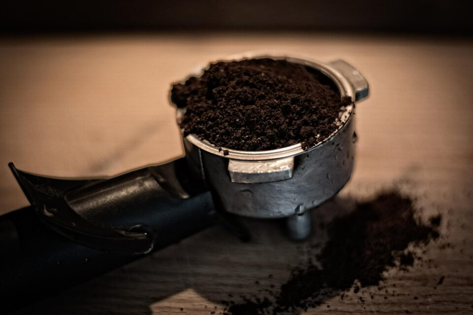 coffee ground grinds
