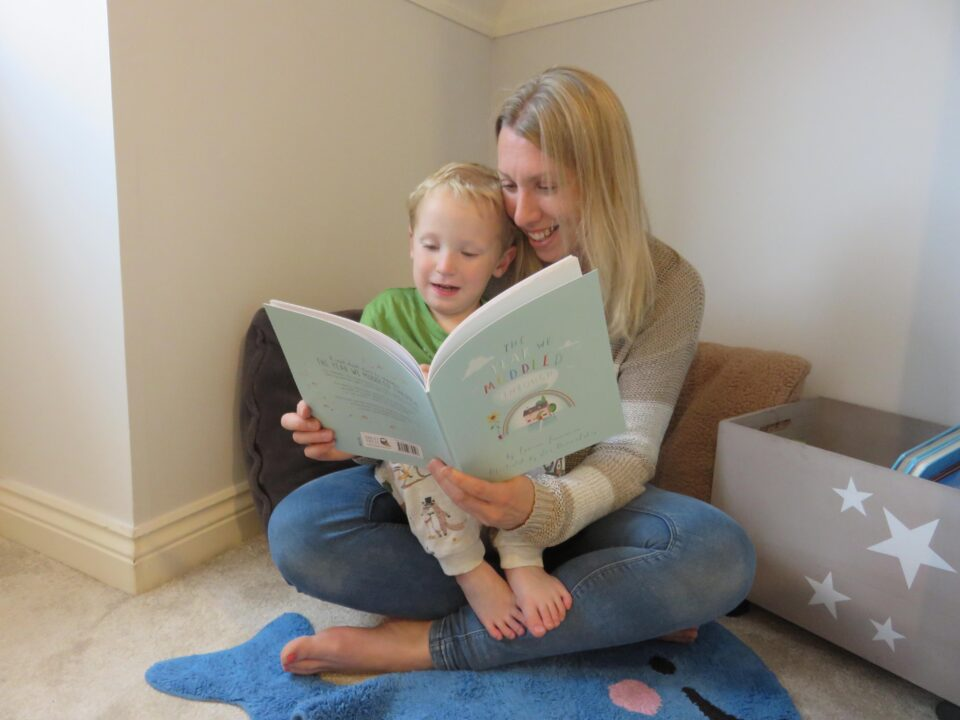 me and william reading the book