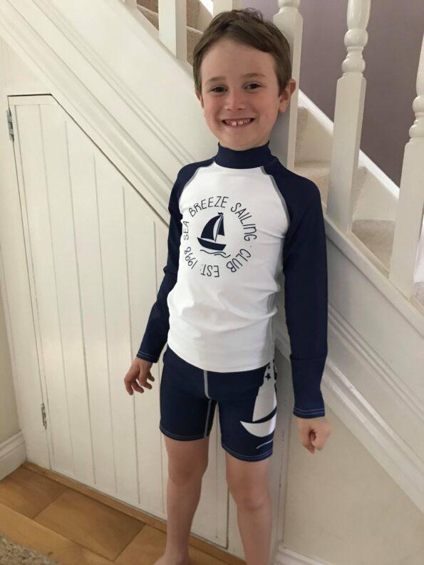 Jake wearing his new Jody and Lara swimwear