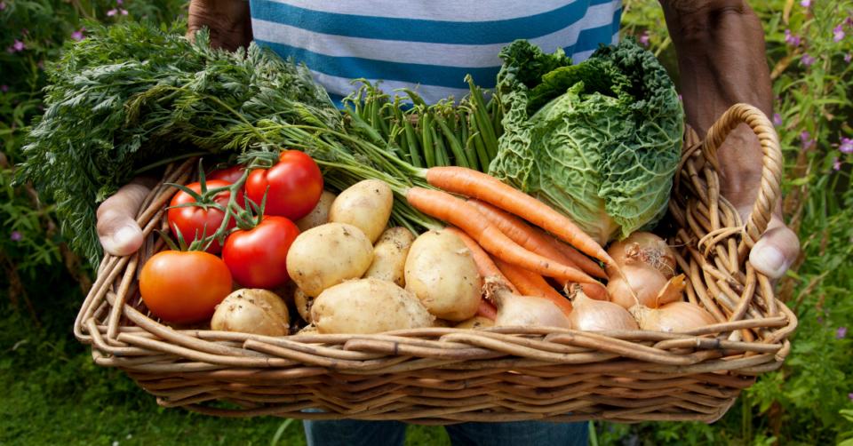 veg in a basket