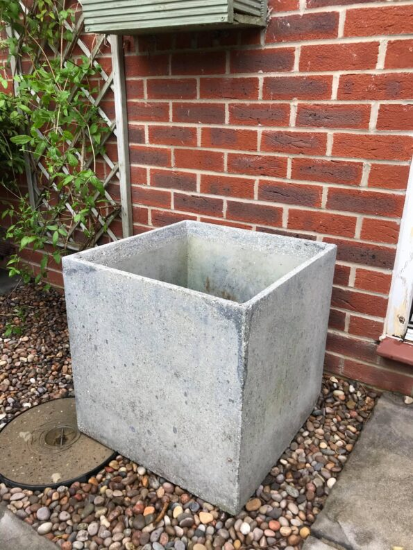 the grey planter I bought