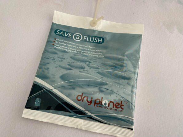 save a flush displacement bag