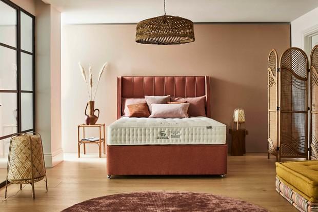 peach bedroom