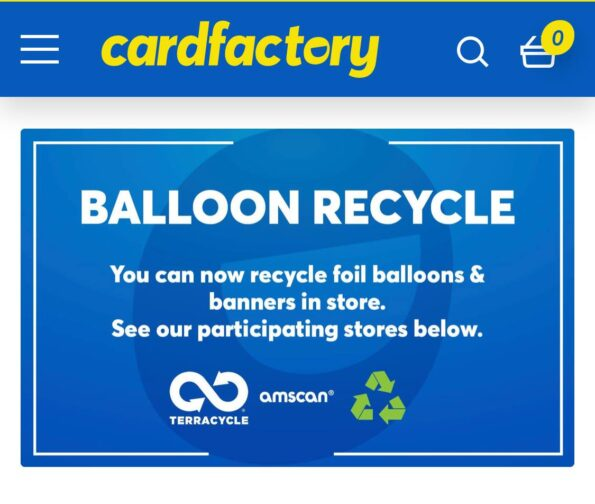 the poster for the foil balloons recycling