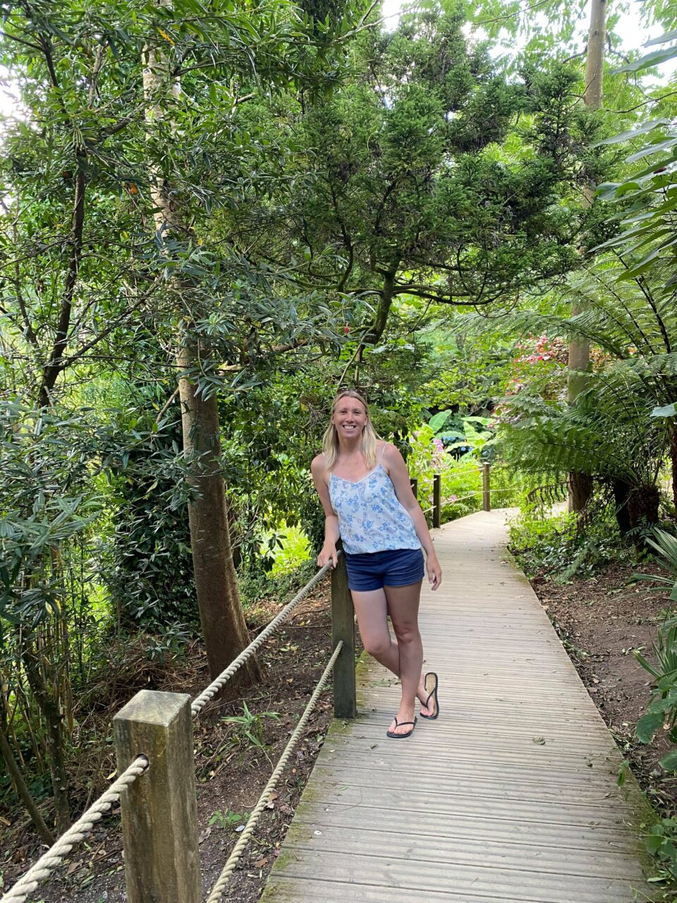 me on the walkway to the jungle