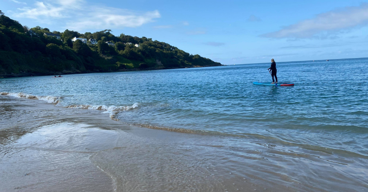 carbis bay with me on my paddleboard