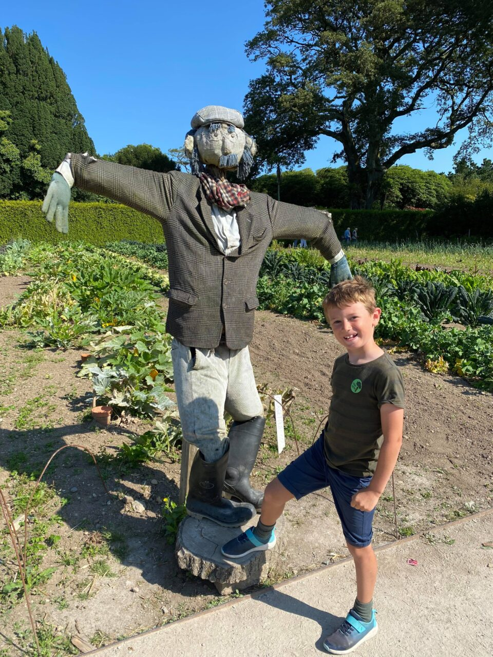 Jake with the scarecrow
